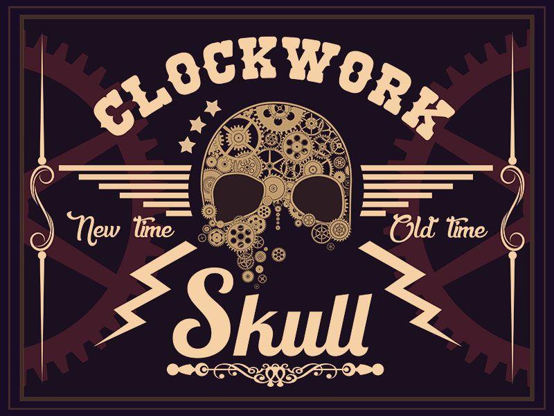Clockwork skull por gabriel sanz