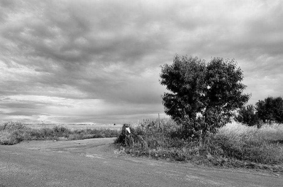 cruce de caminos rural