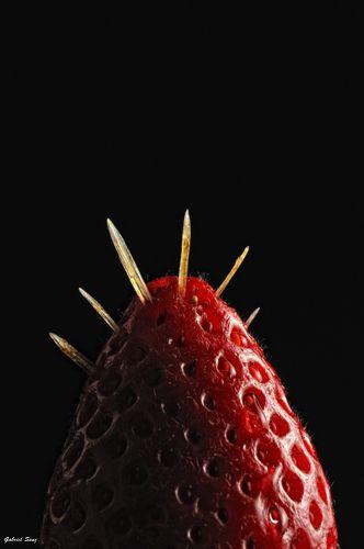 Fresa y espinas